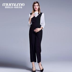 孕妇背带托腹裤M163K702