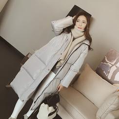 孕妇装冬装棉衣棉服女韩版宽松大码加厚孕妇羽绒服中长款棉袄外套